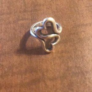James Avery double heart ring